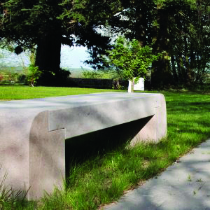 Cèdre Gray Bench - Special Order