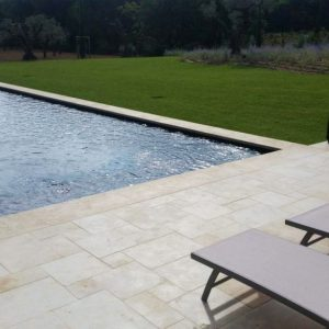 Beautiful pool in Moroccan natural stone slabs