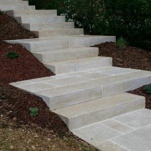 Solid Stone Steps Block Gray Cedar
