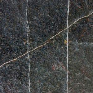 Black natural limestone - flamed