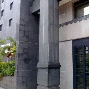 Black granite column - Gabonese Bank Union