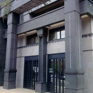 Black granite columns - Gabonese Bank Union