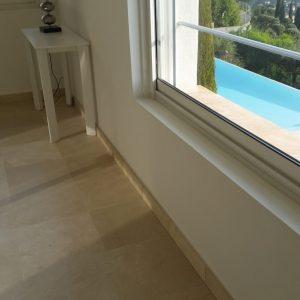 Natural stone floor slab Marble Crema Marfil