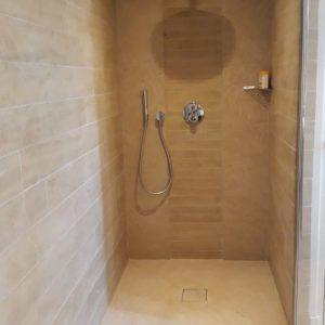 Cedre Bronze Natural Stone Shower - Brushed Finish - Free Length