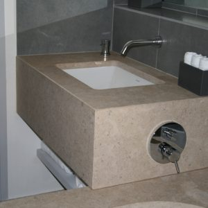 Cedre Gray natural stone sink and bathtub