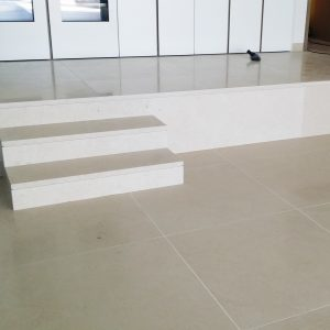 French stone floor slab and staircase