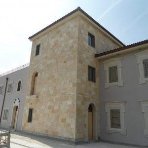 Natural stone facade