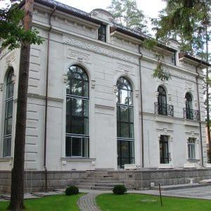 White natural limestone façade - Delfina White Latin
