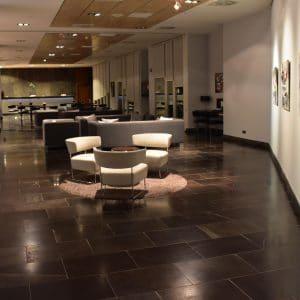 Natural stone floor - Delfina Black Limestone - Hotel Hall