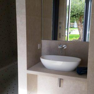 Lovely natural stone shower room