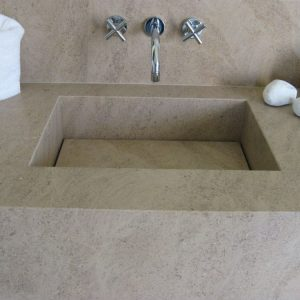 Solid natural stone sink