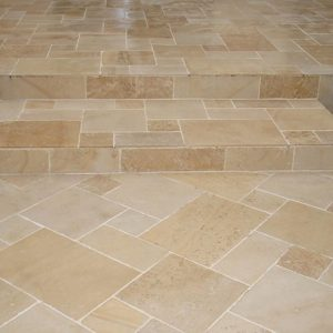 Burgundy Stone stairs - Aged Finish