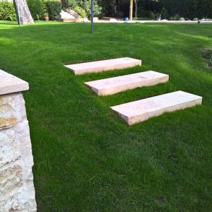 Massive marble steps in Egyptian Sunny stone