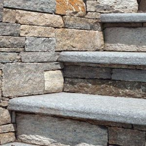 Luzerne stone wall and steps