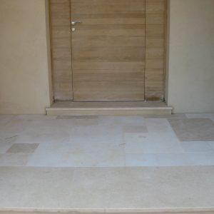 Crema Nova Natural Stone Porch - Sanded and Softened Finish