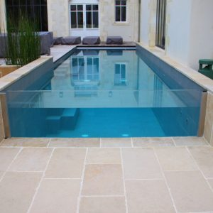 Contemporary natural stone pool