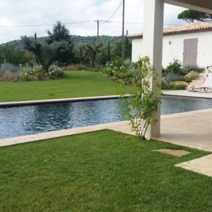 Pool coping and beach in Moroccan Natural Stone