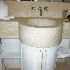 Plan de toilette et lavabo en pierre naturelle - Commande spéciale