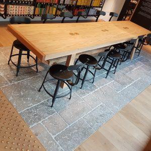 Grey Dordogne stone floor