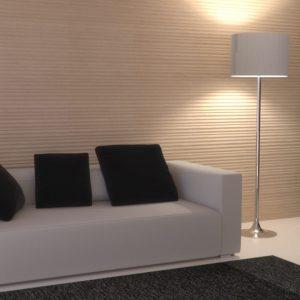 Salon en pierre naturelle beige Moca Crème - Finition vague