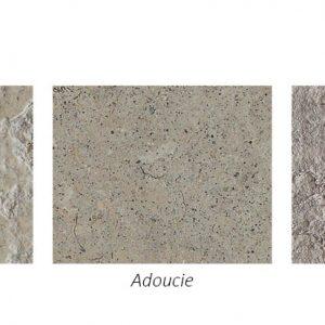 Différentes finitions de carrelage naturel en pierre calcaire Cenia azul grise