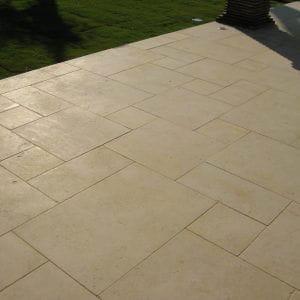 Crema Nova natural stone floor tiles - Sandblasted finish