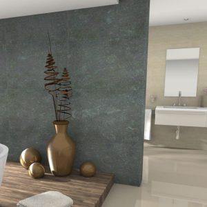 Salle de bain en pierre naturelle - Azul valverde Finition velours